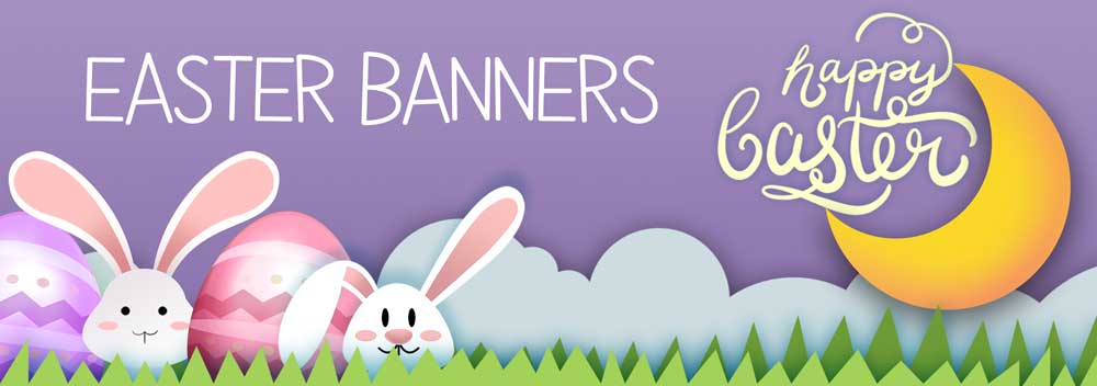 Balloons for all Occasions Easter Banners