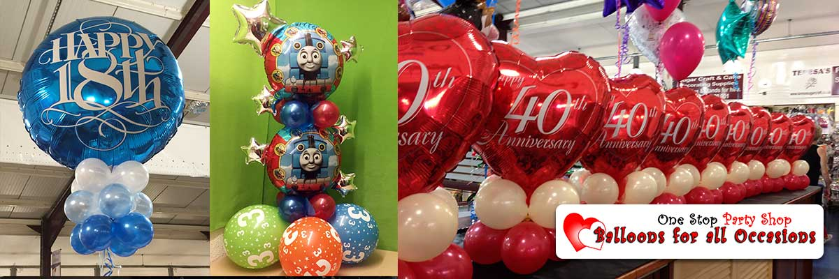 Birthday Party Foil Balloons